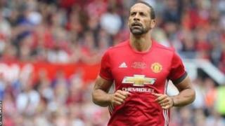 Rio Ferdinand win plenty titles with Manchester United.