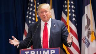 Donald Trump on 19 November, 2015 in Newton, Iowa