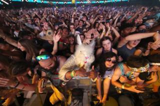 Festivalgoer's at Coachella Valley Music And Arts Festival