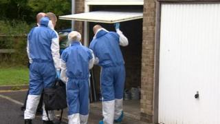 Forensic team investigation