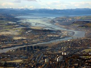 Erskine Bridge, Firth of Clyde and Argyll hills