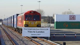 第一列從中國浙江義烏市啟程的貨運列車今年1月抵達倫敦