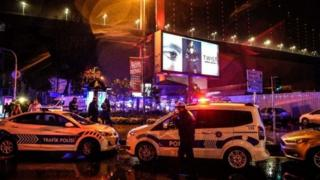 Поліцейські автомобілі біля місця трагедії