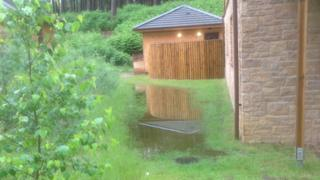 Flooding at Woburn Centre Parcs
