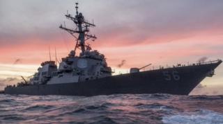 (แฟ้มภาพ) เรือพิฆาตยูเอสเอส จอห์น แม็คเคน