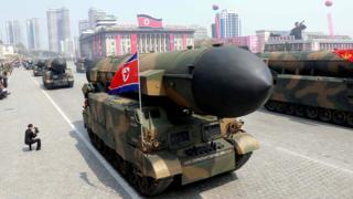 North Korean military parade