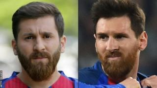 Solda Rza Parasteş, sağda Lionel Messi
