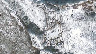 This GeoEye Satellite Image captured January 23, 2013 shows the Punggye-ri nuclear test facility in North Korea.