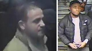 CCTV images of men wanted in connection with the incident