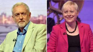 Jeremy Corbyn and Angela Eagle