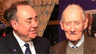Alex Salmond and father Robert