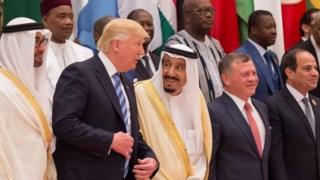 सऊदी में डोनल्ड ट्रंप