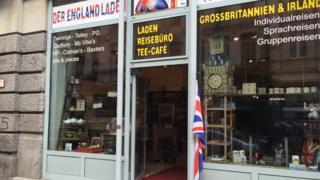 English shop in Leipzig