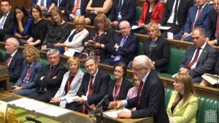 Jeremy Corbyn speaking at Prime Minister's Questions