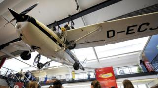 Самолет Cessna 172, на котором Матиас Руст прилетел в СССР, выставлен в берлинском музее