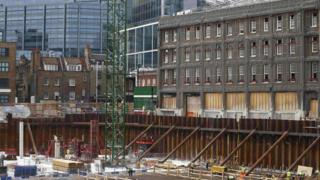 A building site in London