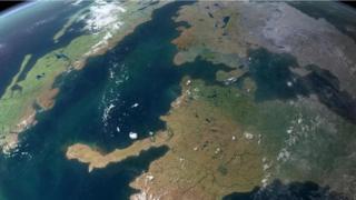 La Tierra y sus continentes vistos desde el espacio