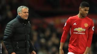 Jose Mourinho na Marcus Rashford
