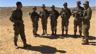 Gadsar recruits training in Negev desert