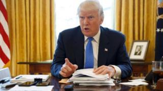 """Trump wuxu ku tilmaamay heshiiska New Start ee Ruushka iyo Maraykanku ku doonayeen in nukliyeerka lagu yareeyo """"mid xun"""""""