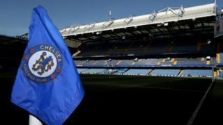 Bandera de Chelsea en Stamford Bridge