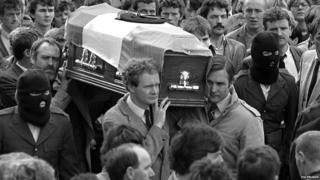 Martin McGuinness at IRA funeral