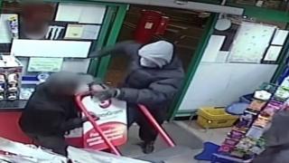 CCTV still of the shop attack