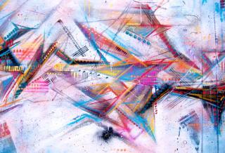 Aerosol art by Keith Hopewell - aka Part2ism (detail)