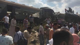 این مرگبارترین تصادف قطار از چهارسال پیش تا کنون در مصر است.