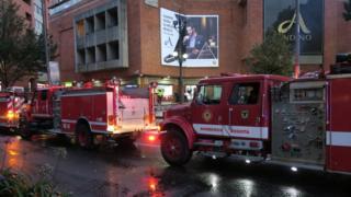 El incidente se registró en el centro comercial Andino, en el norte de Bogotá.