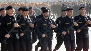 Chechen special forces, 2005 file pic