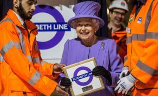 The Queen at Elizabeth line
