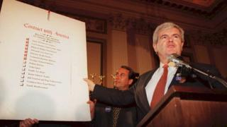 """newt gingrich explains """"contract with America"""" 1994"""
