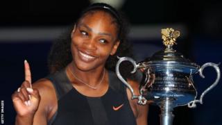 Serena Williams yatsinze igikombe ca 23 ca Grand Slam muri Australian Open, haheze iminsi ibiri amenye ko yibungenze