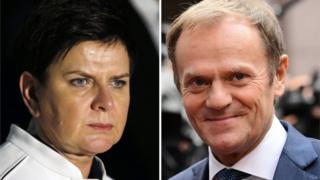 """Премьер-министр Польши Беата Шидло говорит, что господин Туск """"несколько раз нарушал свой европейский мандат"""""""