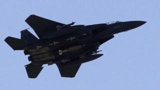АКШнын Аба күчтөрүнө таандык F-15 аскер учагы. Азырынча мындай үлгүдөгү учактардын бири да аба кармаштарында атып түшүрүлгөн эмес.