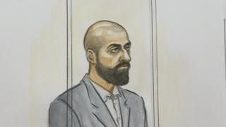 Court sketch of Zameer Ghumra