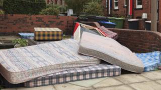 Fly-tipping in Leeds (library picture)