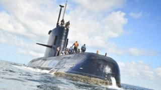 The missing San Juan submarine (file photo)