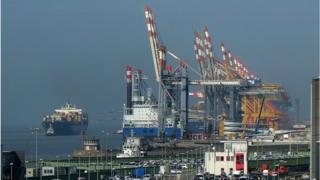 A German port