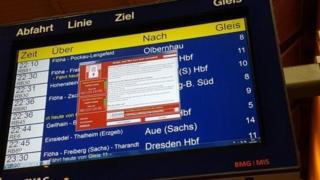Франкфурт вокзалидаги поездлар жадвали экрани