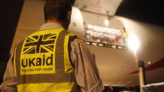 UK aid flight arrives in Cebu, Philippines, 12 Nov 2013