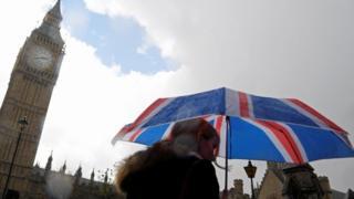 Umbrella in front of Parliament