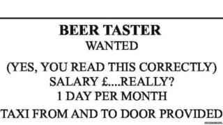 A Derry brewery is advertising for a beer taster
