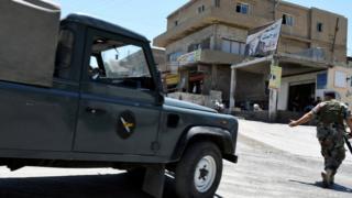 قوات للجيش اللبناني على مدخل مدينة عرسال الحدودية