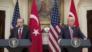 Президент Турции Реджеп Тайип Эрдоган и президент США Дональд Трамп