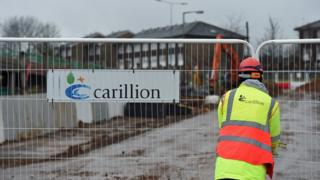 A Carillion sign at a building site