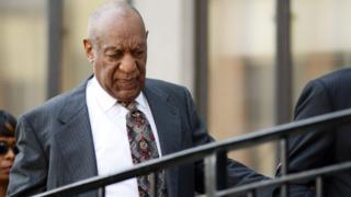 Bill Cosby leaving court