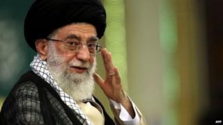 Kiongozi wa Iran Ayatollah Ali Khamenei