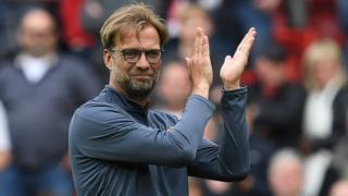 Huấn luyện viên Liverpool Jurgen Klopp vui mừng sau trận thắng Middlesbrough ngày 21/5
